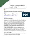Aplicação do Direito Estrangeiro (Direito Internacional Privado)