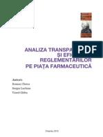 Analiza Reglementarea Pietei Farmaceutice