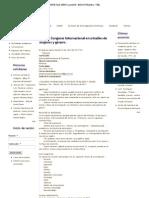 Estudios de mujeres y género. Marzo 2013