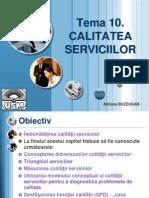 Tema 10. Calitatea Serviciilor