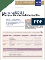 Les Essentiels - Essais Cliniques