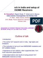 VLF Research in India and Setup of AWESOME Receivers by B. Veenadhari, et al., Indian Institute of Geomagnetism, Navi Mumbai, India, June 2009.
