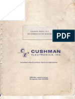 Cushman Model CE-3 FM Communication Monitor Manual, 1968.