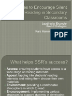Activities to Encourage Silent Reading in Secondary Classrooms