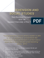 Comprehension and Social Studies