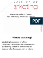 1a Marketing Concept, Role of Marketing in Corporate & Society
