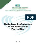 Estándares Profesionales de los Maestros de Puerto Rico