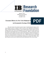 NFIB-NY Minimum Wage Study - 2012