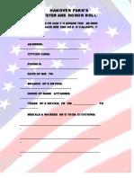 Veterans Honor Roll Application Hp-1