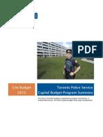 2012 City of Toronto Budget Toronto Police Service Capital Budget Program Summary