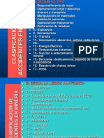 CLASIFICACIÓN DE ACCIDENTES EN MINERÍA