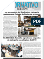 Informativo SEECOVI - FEVEREIRO 2011