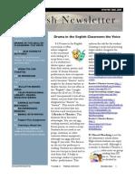English Newsletter Winter 08-09 Issue