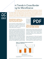 Current Trends in Cross Border Funding for Microfinance