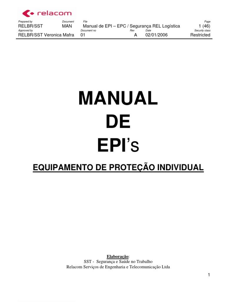 Manual de Epi Relacom - Completa3 a375bd6e58