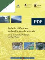 Guía edificación sostenible para la vivienda
