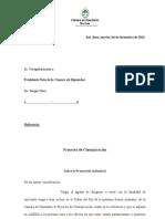 Proyecto de comunicación sobre Promoción industrial
