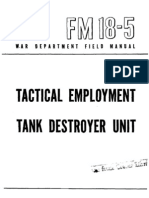24576804 Fm 18 5 Tactical Employment Tank Destroyer Unit 1944