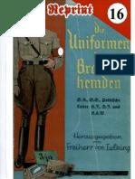 (1934) Der Uniformen der Braunhemden