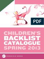 Chronicle Books UK Kids Backlist Spring 2013