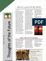 TOTF Bulletin - First Edition 12.04.12