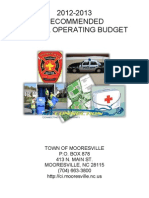 Proposed Mooresville Town Budget