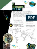Fairtrade Quiz for Children 2012