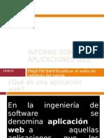 Informe Sobre Las Aplicaciones Web