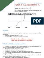 DM Maths *TS* Se fier à la calculatrice