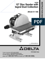 Delta Manual 12 Inch Disc Sander Model 31-120 (Not Scanned)