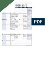 BPL Monthly Schedule - Dec 2012