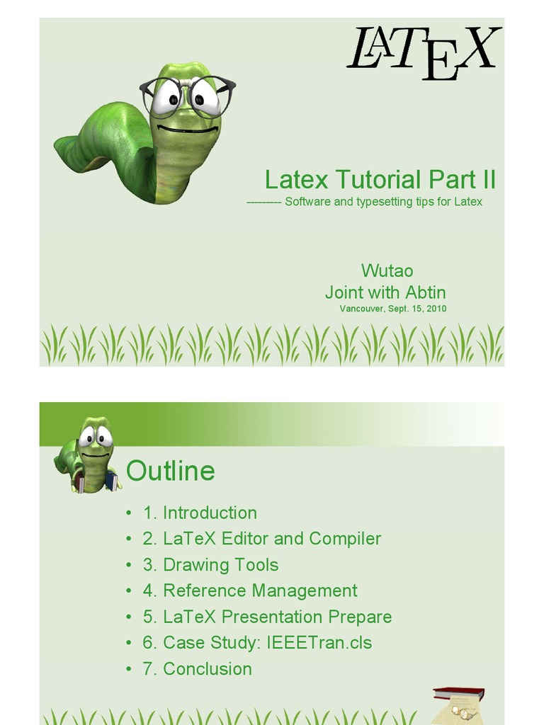 Latex Intro Part2 | Te X | Application Software