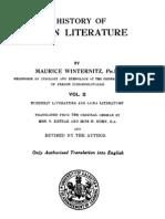 Maurice Winternitz History of Indian Literature Vol II 1933