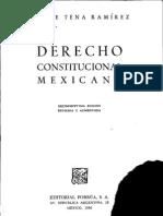 Derecho Constitucional Mexicano - Felipe Tena Ramirez
