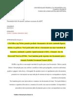 Aula 1 - Exercício 1 - Formatar usando a norma ABNT