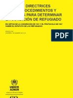 Manual y directrices sobre procedimientos y criterios para determinar la condición de refugiado