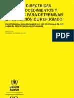 Manual y directrices sobre procedimientos y criterios para determinar la condición de refugiado