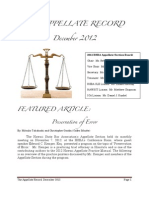 HSBA Appellate Section December 2012 Newsletter