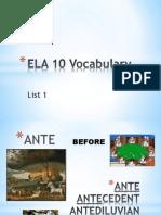 List 1