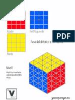 ejercicios de representación espacial. Sistema isométrico