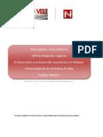 El desempleo y el desarrollo económico en México
