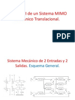 Control PI de un Sistema Mecánico Translacional MIMO.
