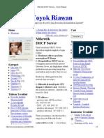 Mikrotik DHCP Server « Yoyok Riawan