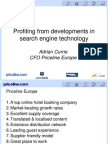 Profiting From Developments in Search Engine Technology