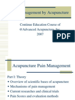 Pain Management by Acupuncture