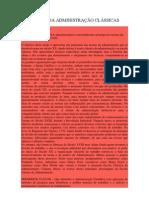 AS TEORIAS DA ADMINISTRAÇÃO CLÁSSICAS