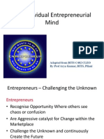 The Entrepreneurial mind