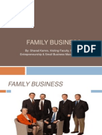 FAMILY BUSINESS.ENTREPRENEURSHIP