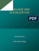 Language and Socialization