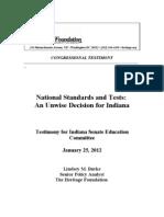 Lindsey Burke of The Heritage Foundation - Indiana Senate Testimony